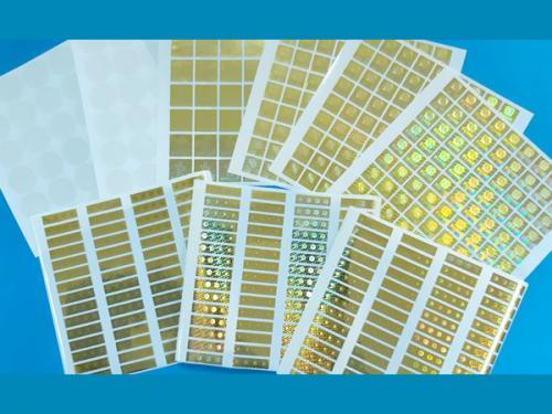 2D/3D雷射防偽標-金色底